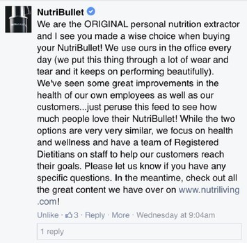 nutribullet statement